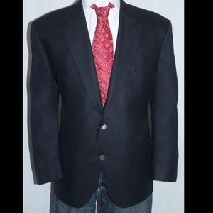 New PURE Cashmere Royal Crested Button Blazer